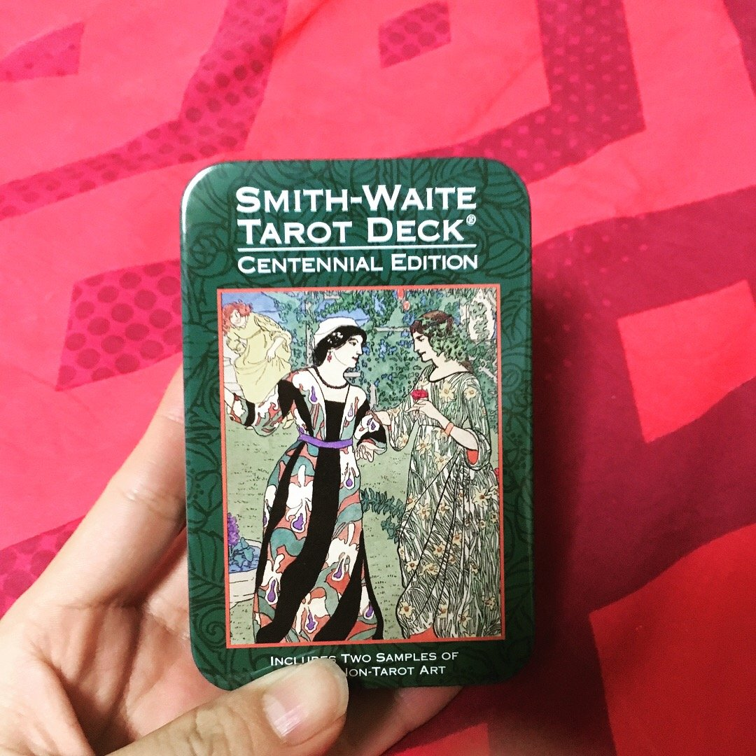 Smith-Waite Centennial Deck Tarot in a Tin