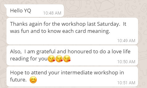 tarot class in singapore review